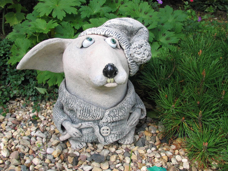 Садовая фигура из глины своими руками 7